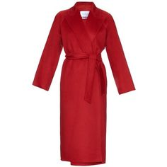 MAX MARA Nevis coat ($4,990) ❤ liked on Polyvore featuring outerwear, coats, red, red coat, wrap coat, cashmere coat, maxmara coat and evening coat