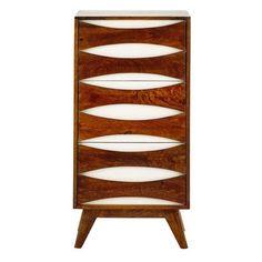 Cabinet de rangement en manguier massif blanc L 45 cm