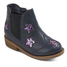 Toddler Girls' Masha Glitter Star Double Gore Boots Cat & Jack™ : Target