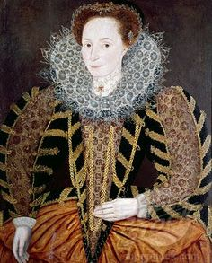 Portrait of Lucy Harrington,Countess of Bedford, 1595.