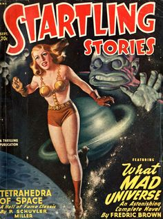 sciencefictiongallery:  Earle Bergey - Startling Stories, September 1948.