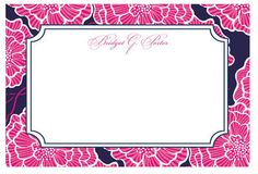 Lilly Pulitzer! I have pants that match these. A little fancy for my notecard needs, though.