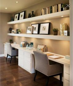 Home Office Space Design Ideas biuro Home office design. Beautiful and Subtle Home Office Design Ideas restyle your office. 50 Home Office Design Ideas That Will Inspire Productivity room[. Home Office Space, Home Office Design, Home Office Decor, House Design, Office Designs, Office Spaces, Home Office Lighting, Office In Bedroom Ideas, Workplace Design