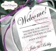 Wedding Welcome Bag Tag (SET OF - Swirl Gift Tags for Wedding Hotel Welcome Bag - Destination Wedding Tags - Thank You Wedding Guest Bags, Destination Wedding Welcome Bag, Wedding Gifts For Guests, Wedding Welcome Bags, Wedding Tags, Wedding Quotes, Wedding Favors, Top Wedding Trends, Wedding Ideas