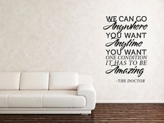 Doctor Who Quote  Vinyl Wall Art by JustinHurtCreative on Etsy