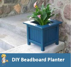 DIY Beadboard Planter - http://thegardeningcook.com/diy-beadboard-planter/