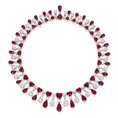 Sothebys jewelry | Ruby and diamond necklace Sotheby's