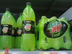 mountain dew in england equals energy drink