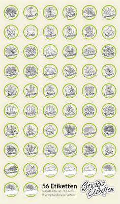 Auch den Überblick über deine Gewürze verloren? Mit diesen 56 Aufklebern bringst du Ordnung in dein Gewürzregal!!!