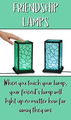 The PERFECT gift idea for any long distance relationship or friendship! When you touch your lamp, your friend's (or wife, husband, girlfriend, boyfriend, bff, etc) lamp lights up! So cool! It kinda makes it feel like they are there with you. This would be an awesome Valentine's Day gift! #giftidea #ad #longdistancerelationship