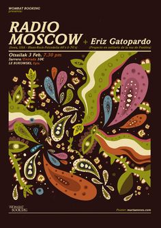 Radio Moscow poster by Marta Ennes.