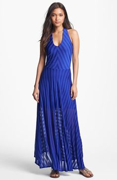 FELICITY & COCO Stripe Halter Maxi Dress (Nordstrom Exclusive) available at #Nordstrom
