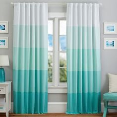 These are sooooooooooooooooooooooooooooooooooooooooooooo pretty. If only they matchedd the colors for my room. Draperies, Curtains And Drapes & Window Decor My New Room, My Room, Girl Room, Pottery Barn, Bedroom Themes, Bedroom Decor, Bedroom Curtains, Teal Room Decor, Mermaid Room Decor