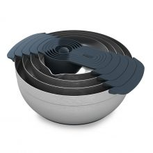 Joseph Joseph | Designer Kitchen Utensils, Cookware & Chopping Boards.  Stainless Steel Prep Set.  Better than plastic...can use hand blender etc without damaging bowls.