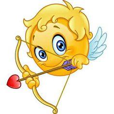 Buy Cupid Emoticon by yayayoyo on GraphicRiver. Cupid emoticon with bow and arrow Smiley Emoji, Smiley Emoticon, Emoticon Faces, Facebook Emoticons, Funny Emoticons, Funny Emoji, Smileys, Foto Software, Naughty Emoji