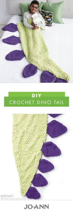 Who says blankets have to be boring? This tutorial for a DIY Crochet Dino Tail turns your favorite hobby into a playful homemade Christmas gift idea your kids or grandkids are sure to love!