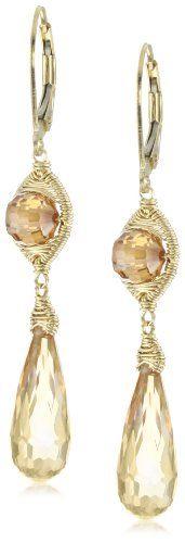 Dana Kellin Classically Wrapped Double Golden Stone Earrings