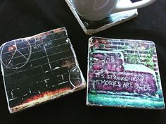 My photos applied to stone tiles. Use as coasters, wall art or shelf art.Bumpers applied to back of stone to protect furniture. | Shop this product here: http://spreesy.com/Klaygirlbrooklyn/1 | Shop all of our products at http://spreesy.com/Klaygirlbrooklyn    | Pinterest selling powered by Spreesy.com