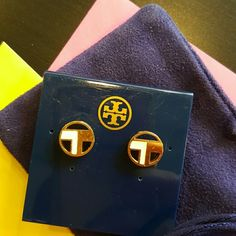 Tory Burch Brand Earrings Nice Tory Burch earrings in gold and white.  Comes with pouch. AUTHENTIC! Other