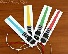 With May the Fourth coming up, I wanted to share these Free Printable Star Wars Lightsaber Bookmarks with everyone! Star Wars Classroom, Classroom Treats, Classroom Fun, Star Wars Decor, Theme Star Wars, Star Wars Day, Aniversario Star Wars, School Library Displays, Printable Star