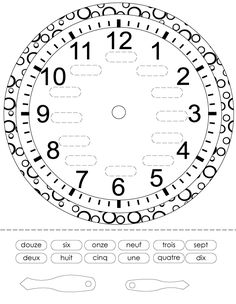 French Printouts for Children - Time