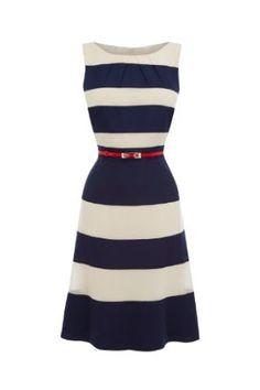 ☼ Noemie Stripe Matching Color Dress