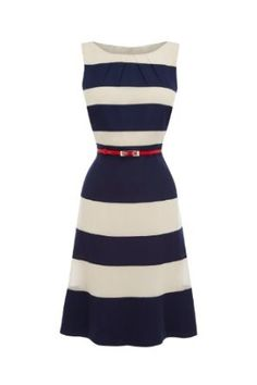 ☼ Noemie Stripe Matching Color Dress