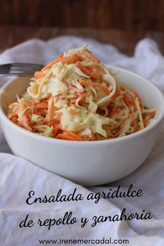 Coleslaw - Employ Tutorial and Ideas Cooking Recipes, Healthy Recipes, Delicious Recipes, Coleslaw, The Best, Cabbage, Food Porn, Food And Drink, Veggies