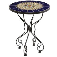 Rania Blue Accent Table
