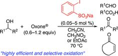 2-Iodoxybenzenesulfonic Acid as an Extremely Active Catalyst for the Selective Oxidation of Alcohols to Aldehydes, Ketones, Carboxylic Acids, and Enones with Oxone