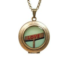 Love Signs Locket Necklace, $34, now featured on Fab.