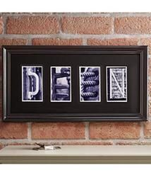 Personalized Architectural Alphabet Photography Frame - 6 Letters