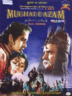 """Mughal-E-Azam"" (India) - a film by K. Asif (Starring Dilip Kumar and Madhubala). Video Cd, Bollywood Posters, Magnum Opus, Old World Charm, Hindi Movies, Film Posters, Old Pictures, Movies And Tv Shows, Love Story"