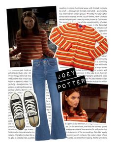 Joey Potter - Outfit Inspiration - Season 1 by vilena-ferreira on Polyvore featuring moda, M.i.h Jeans, Converse, J.Crew and Oris