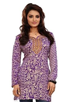 Indian Tunic Top Womens / Kurti Printed Blouse tops - AZDKJD-EX04AP Arras Creations http://www.amazon.com/dp/B00RR5OOQW/ref=cm_sw_r_pi_dp_Cl51ub0ARE6T1