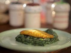 Filetes de pescado con puré de espinaca - Narda Lepes