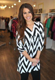 Dottie Couture Boutique - Chevron Dress- Black/White, $44.00 (http://www.dottiecouture.com/chevron-dress-black-white/)