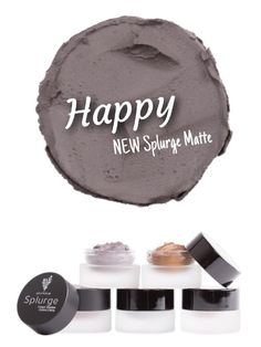 NEW Splurge Cream Shadows in MATTE! New color coming out every month. Happy is now available at www.LivingFabulash.com
