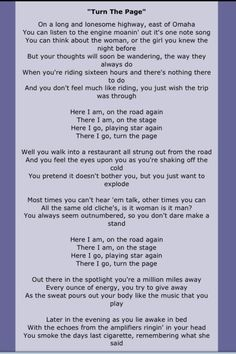 Bob Seger.  played this at my husband's funeral...25 years ago. I still cry...
