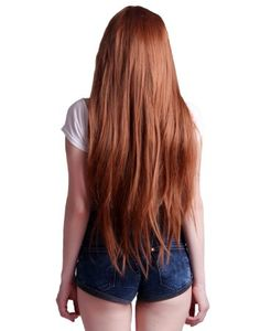 """HDE 32"""" Design Your Style Heat Resistant Long Straight Cosplay Anime Costume Wig (Chestnut Brown)"""