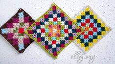 Разноцветный мотив крючком Бабушкин Квадрат Flower Granny Square, Crochet, Ganchillo, Crocheting, Knits, Chrochet, Quilts