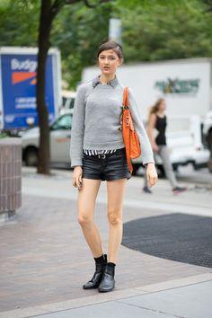 premiere-streetstyle:  street style   www.fashionclue.net |...