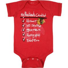 Old Time Hockey- -Chicago Blackhawks Infant Red Old Time Hockey Galore Jersey Creeper