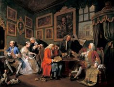Tate Gallery article on William Hogarth Marriage A-la Mode, including 98. The Tête à Tête, from Marriage à la Mode. William Hogarth. c. 1743 C.E. Oil on canvas.