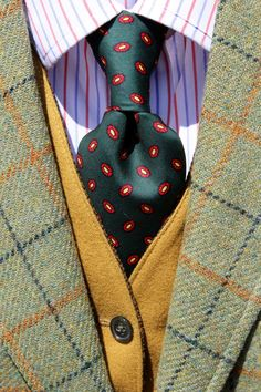 Brooks Brothers Makers Vintage Bottle Green All Silk Foulard Necktie England   eBay
