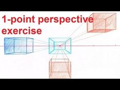 ▶ Linear Perspective Drawing Lesson 4/6 - How To Draw One Point Perspective - Drawing Backgrounds - YouTube