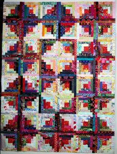 Log Cabin quilt by Exuberant Color