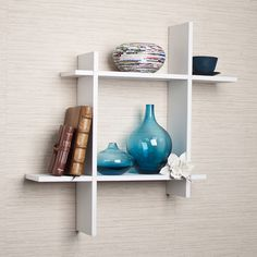 Free Shipping when you buy Danya B Asymmetric Laminate Square Floating Wall Shelf at Wayfair - Great Deals on all Home Improvement products with the best selection to choose from!