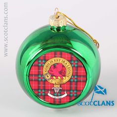 Stuart Clan Crest Christmas Ornament. Free worldwide shipping available