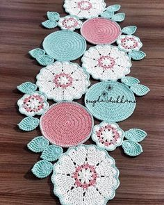 Embroidery for Beginners & Embroidery Stitches & Embroidery Patterns & Embroidery Funny & Machine Embroidery Crochet Placemat Patterns, Crochet Flower Patterns, Doily Patterns, Crochet Motif, Crochet Designs, Crochet Doilies, Crochet Flowers, Crochet Stitches, Embroidery Patterns